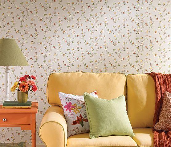 florale motive unterstreichen den natrlichen landhausstil landhaus tapeten - Tapeten Landhausstil