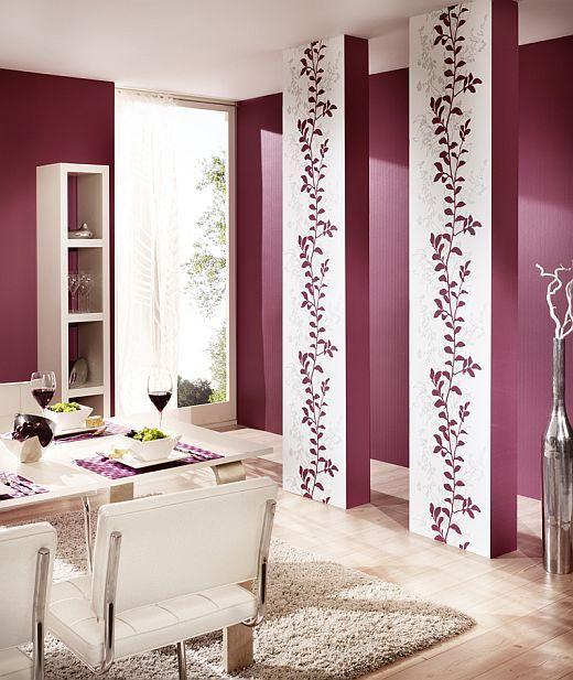 lila wohnzimmer ideen